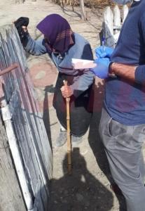Romanian students volunteering to help elderly persons in needs in rural areas