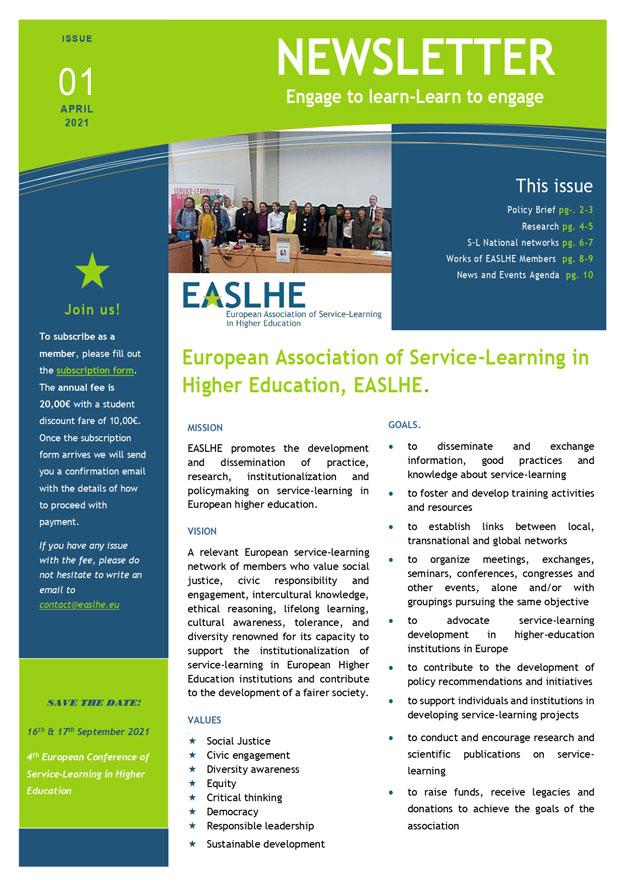 EASLHE Newsletter